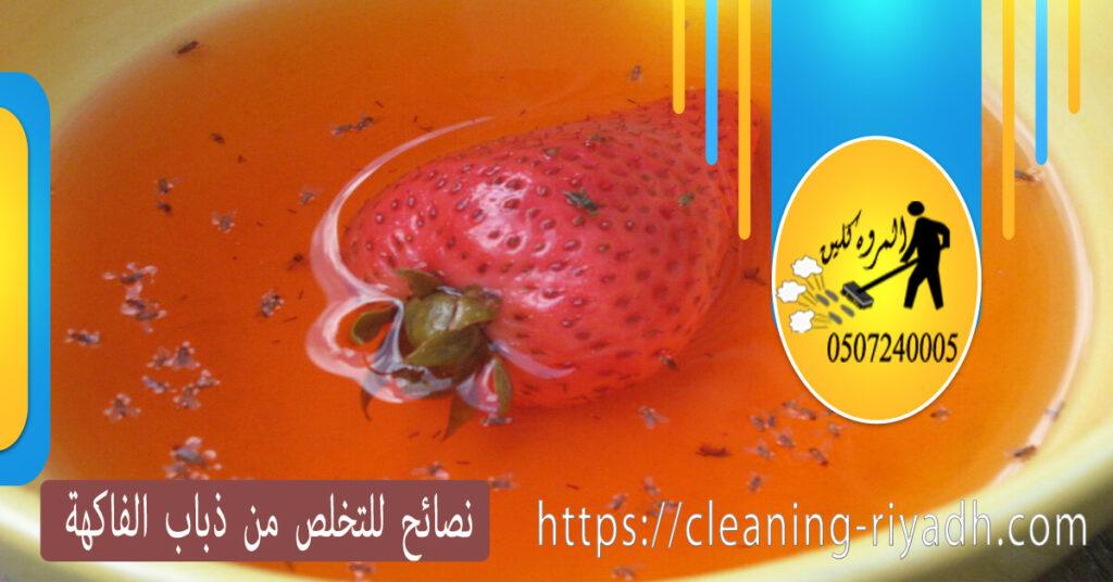 نصائح للتخلص من ذباب الفاكهة